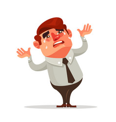 businessman office worker character crying vector image vector image