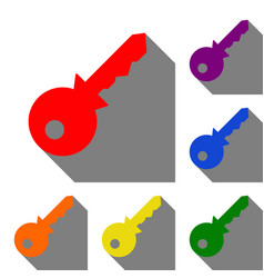 key sign set of red orange yellow vector image vector image
