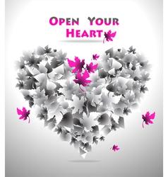 Open Your Heart vector image vector image