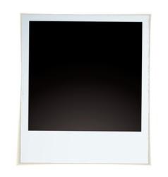 retro instant photograph vector image vector image