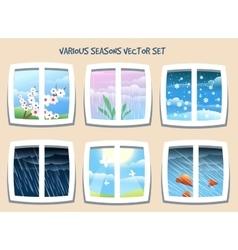 Various Seasons Set vector image vector image