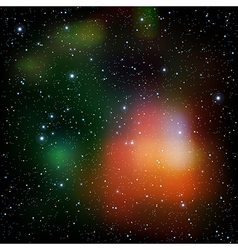 abstract cosmos background with stars nebula and vector image