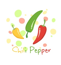 Chili Pepper Vegetable Red Green Yellow vector image vector image