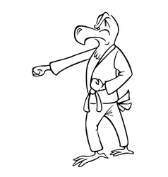 eagle martial artist outline vector image