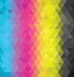 geometric pattern CMYK vector image vector image