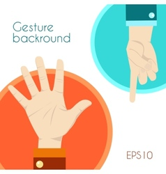 Gesture signs background vector image vector image