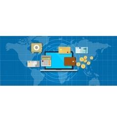 internet banking application money vector image