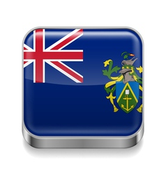Metal icon of pitcairn islands vector