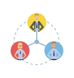 Time And Tusk Sharing Teamwork vector image vector image