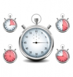 vector chrome stopwatch vector image vector image