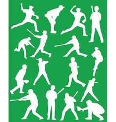 Baseball silhouettes vector image