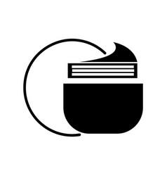 cream tube icon black sign vector image