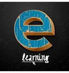 E-learning logtype design vector image vector image