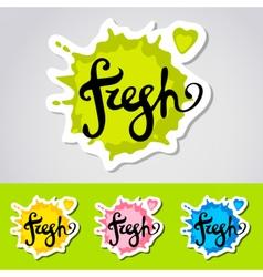 Fresh stiker logo vector image