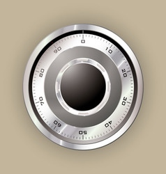 safe dial vector image vector image