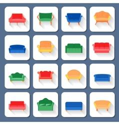 Sofa Icons Flat vector image
