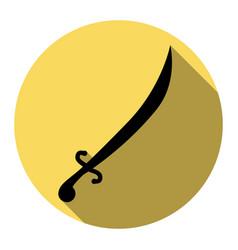 sword sign flat black icon vector image