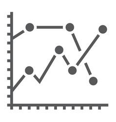 analytics graph glyph icon development vector image