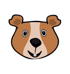 guinea pig funny cute head pets vector image vector image