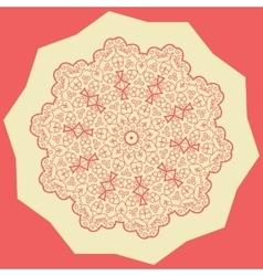 Red mandala print vector