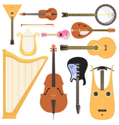 stringed musical instruments set classical vector image