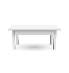 3d table for object presentation empty white top vector image