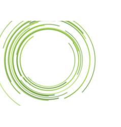 abstract green hud circles futuristic tech vector image