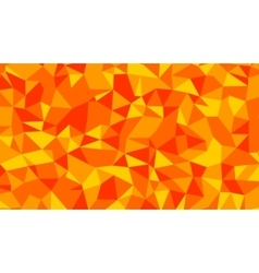 Abstract red orange lowploly of many vector image