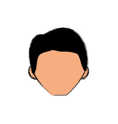 Adult male faceless young vector