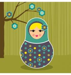 babushka floral vector image
