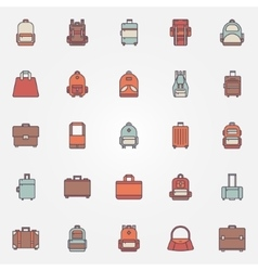 Bag colorful icons vector