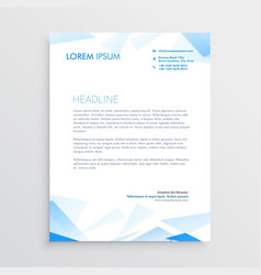 Blue abstract business letterhead design vector
