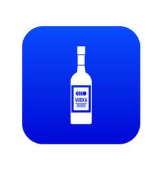 Bottle vodka icon digital blue vector