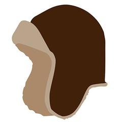 Brown winter hat vector image