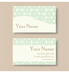 Business card with vintage background vector