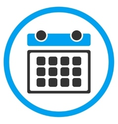 Calendar Month Circled Icon vector