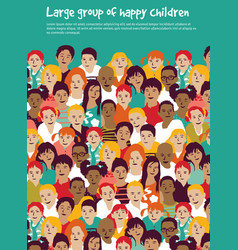 children crowd group multinationals and sky vector image