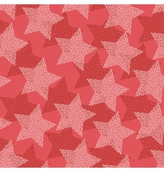 Christmas Stars seamless pattern vector