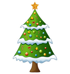 christmas tree isolated on vector image