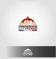 city food logo template vector image