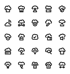 Cloud Data Technology Icons 2 vector
