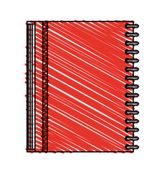 color crayon stripe image notebook spiral closed vector image