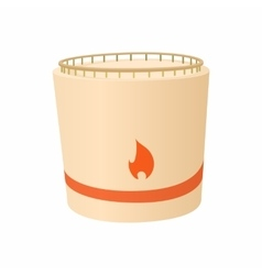 Cylindrical tank flammable icon cartoon style vector