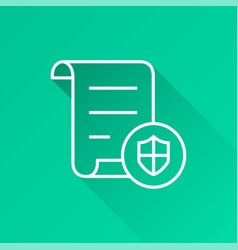 data security - icon for graphic and web vector image