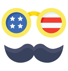 Disguise glasses united state independence day vector
