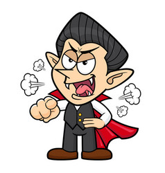 Dracula character getting angry halloween day vector