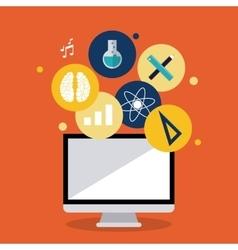 Education learning school computer design vector