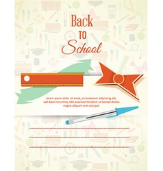 Education with school elements vector image