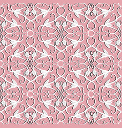 elegance damask seamless pattern ornamental vector image