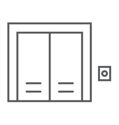elevator thin line icon real estate and home vector image